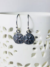 Load image into Gallery viewer, Silver Sanddollar Drop Earrings - MiShelli