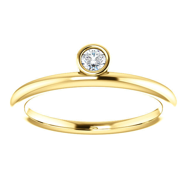 Moissanite Asymmetrical Stacking Ring - MiShelli