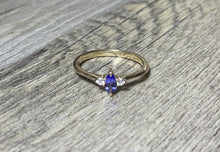 Load image into Gallery viewer, Tanzanite Diamond Ring, 14k / 18K Gold Prong Setting, Unique Engagement, Anniversary Ring - MiShelli
