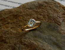 "Load image into Gallery viewer, Moissanite Cushion 14k Gold, Princess Cut ""Forever One"", Engagement Ring, Made to Order, yellow, white, and rose gold - MiShelli"
