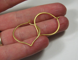 Gold Hoops, Simple gold hoops,  Medium Earrings, hand forged, 24 gold vermeil, Classic everyday