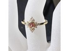 Load image into Gallery viewer, Diamond Cluster Halo Gemstone Ring 14K Gold - Personalize - MiShelli