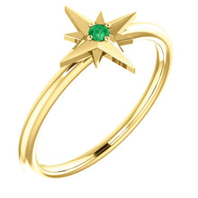 Load image into Gallery viewer, 18K Gold Star Birthstone Ring - MiShelli