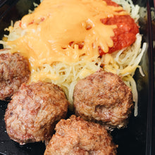 Load image into Gallery viewer, Turkey Meatballs and Spaghetti Squash (Keto)