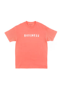BUSINESS LOGO TEE - CORAL