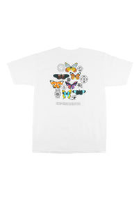 BUTTERFLIES TEE - WHITE