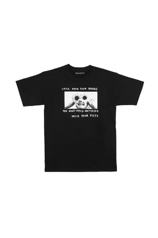 FLOWER EYES TEE - BLACK