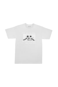 FLOWER EYES TEE - GREY