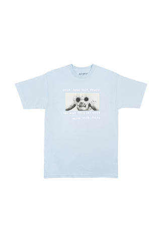 FLOWER EYES TEE - BLUE