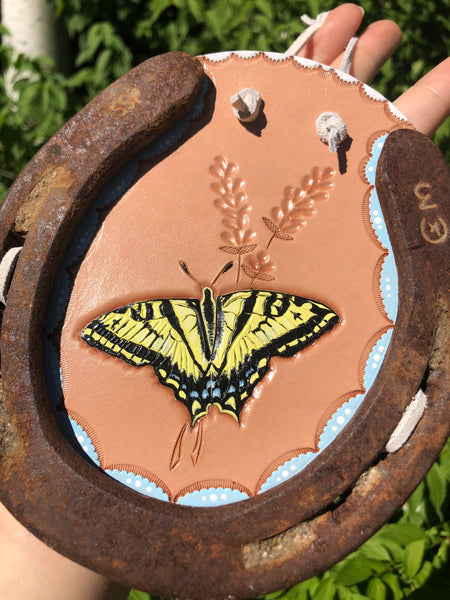 Western Tiger Swallowtail Horseshoe Wall Hanging