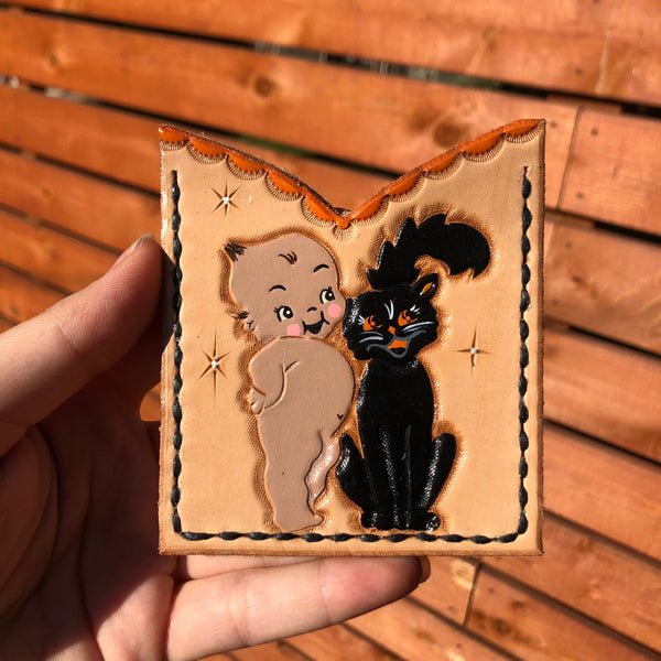 Kewpie Black Cat Card Holder