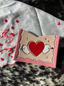 Custom Heart Card Holder