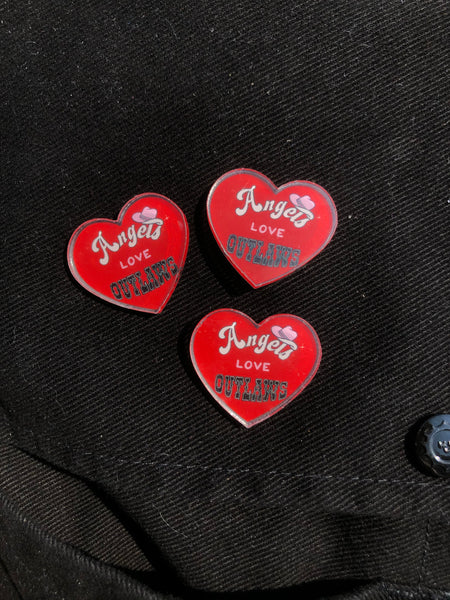 Angels Love Outlaws Acrylic Pins