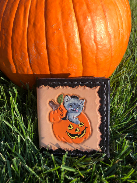 Kitty and Pumpkin Wallet