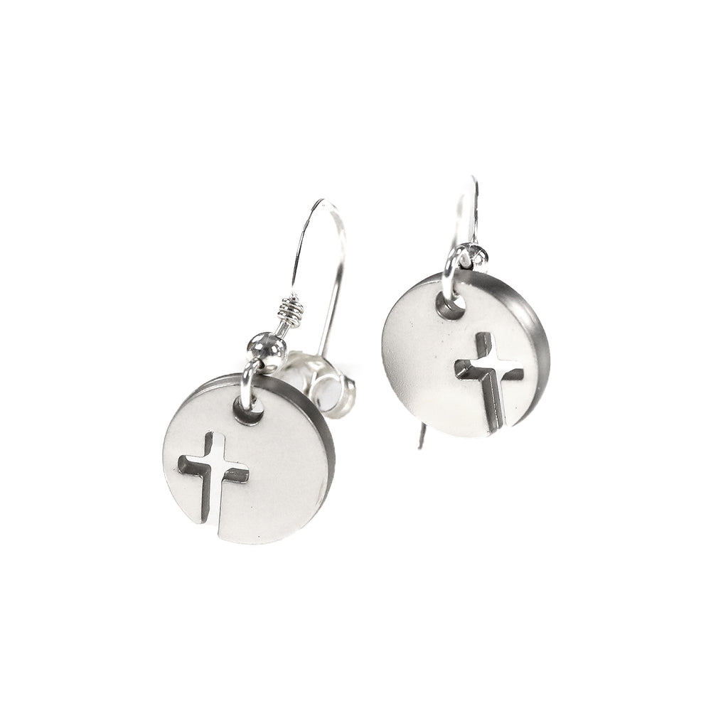 Acc. 13 - .925 Cross Earrings