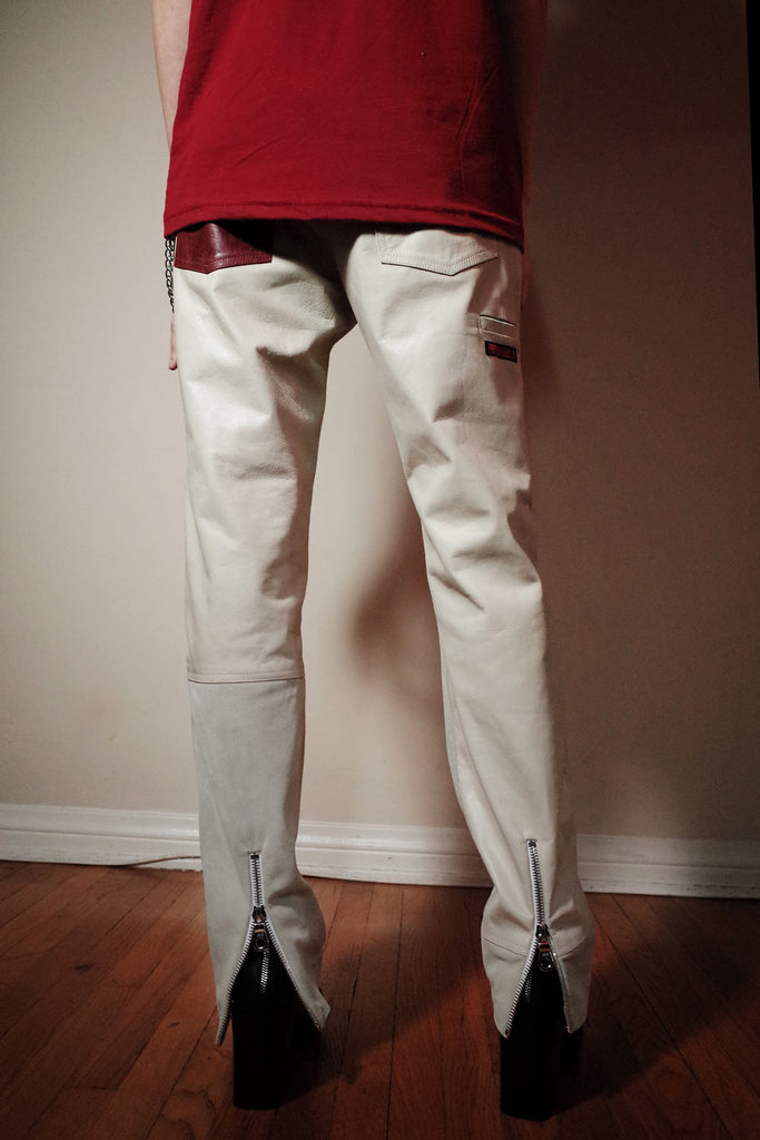 Mod. 8C - Beige Leather/Suede Pants
