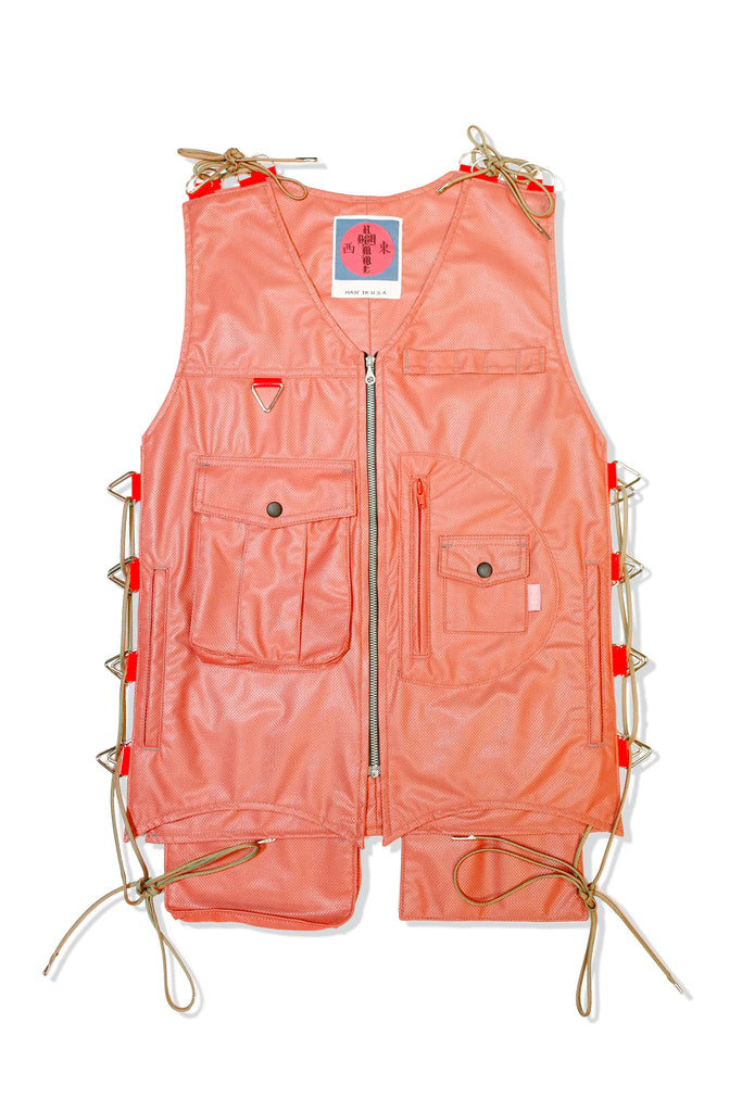 Mod. 28B Col. 4 - Adjustable Vest Orange/Grey