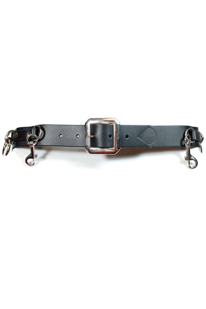 Acc. 5BN Col. 1/4 - Black/P&G Narrow Bondage Belt