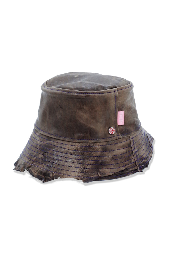 Acc. 17 Col. 4 - POCHE Leather Hat - Brown