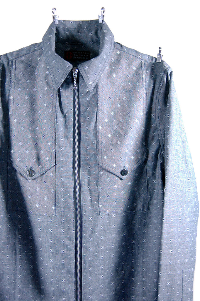 Mod. 4 Col. 2 - Chambray Zip-Up Shirt
