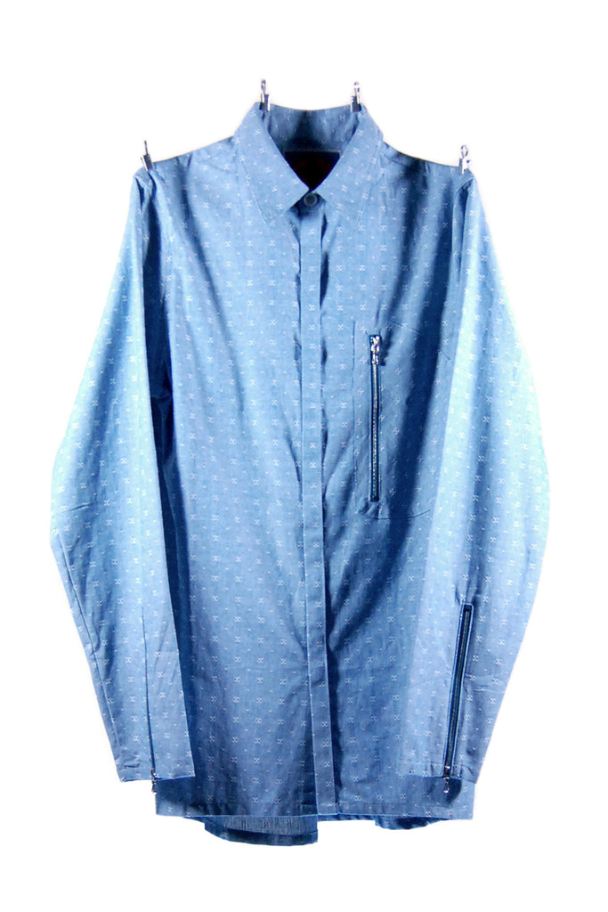 Mod. 5 Col. 2 - Chambray Button-Up Shirt