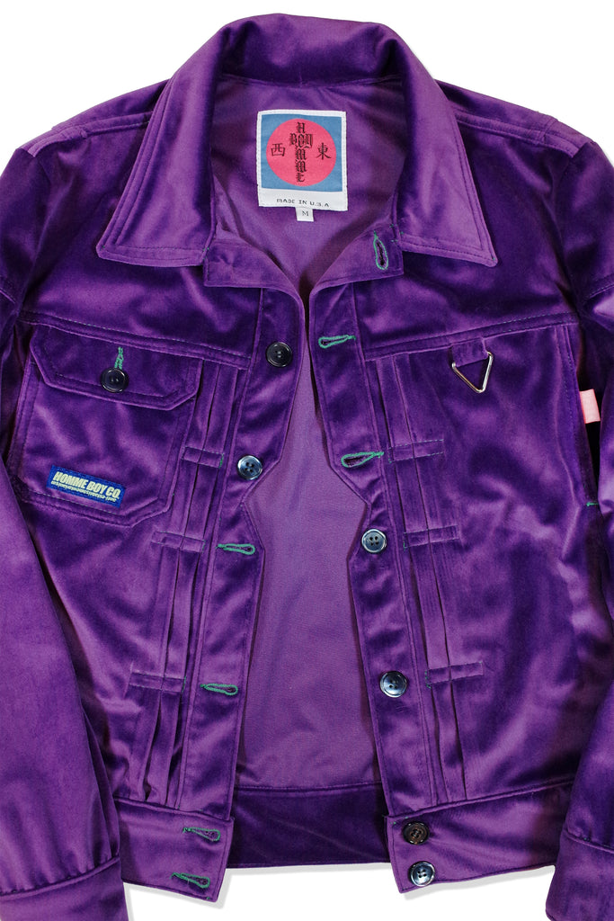 Mod. 2D Col. 4 - Purple Pleated Trucker Jacket