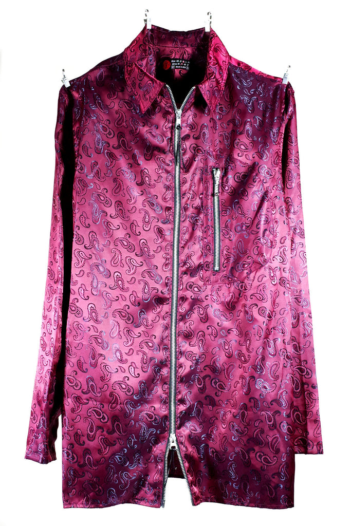 Mod. 4B - Iridescent Paisley Zip-Up
