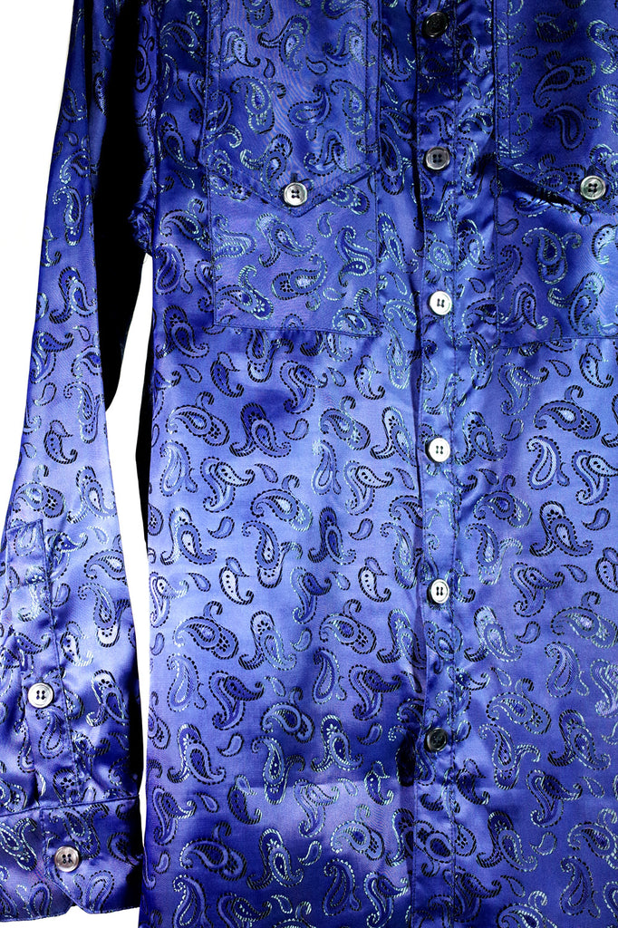 Mod. 5B - Iridescent Paisley Button-Up