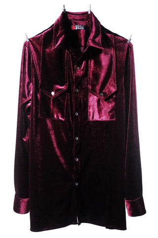 Mod. 5B - Paisley / Velvet Button-Up