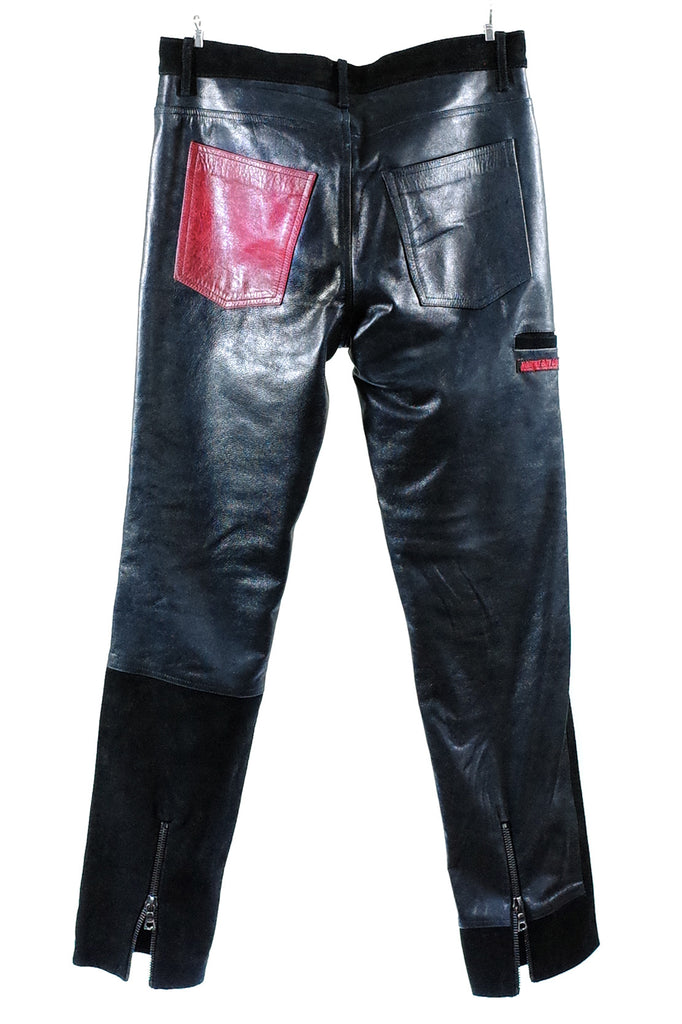Mod. 8C - Black Leather/Suede Pants
