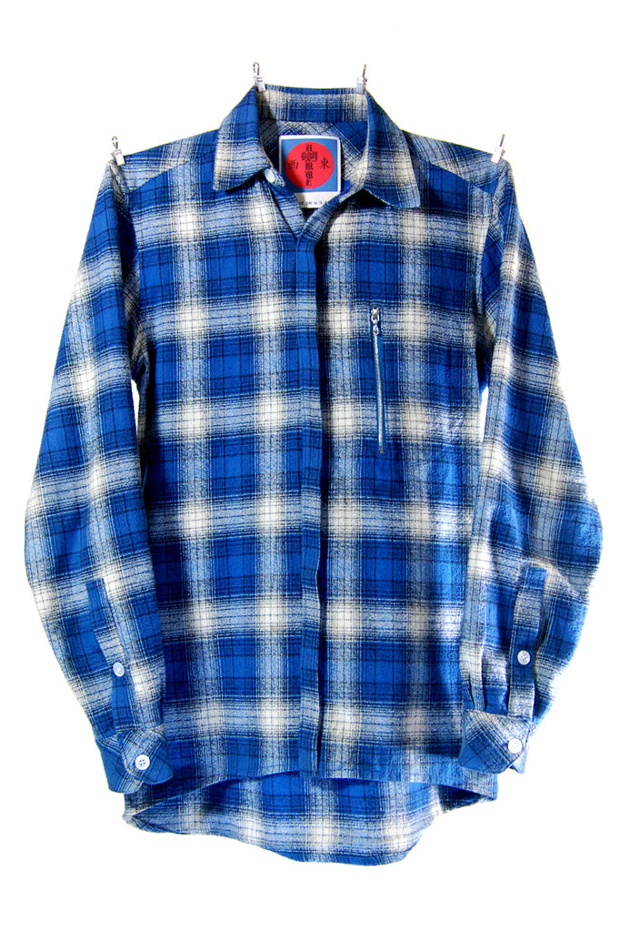 Mod. 5 - Blue Plaid Button-Up