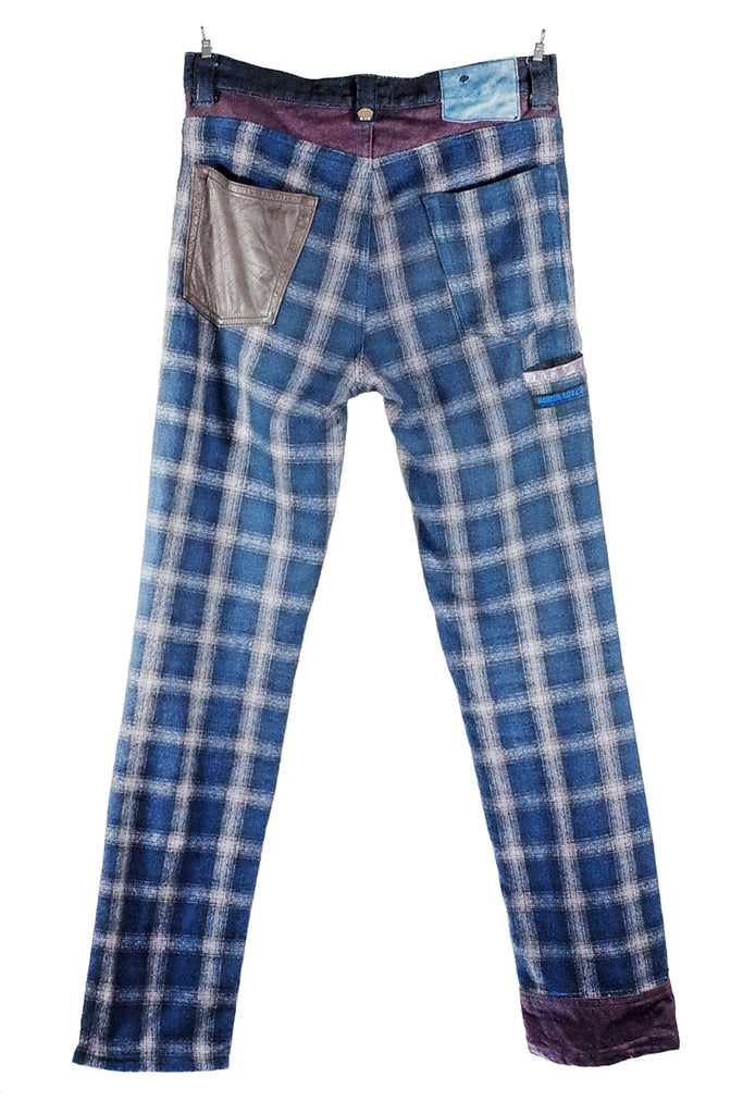 Mod. 8B - Patchwork Flannel / Denim Jeans