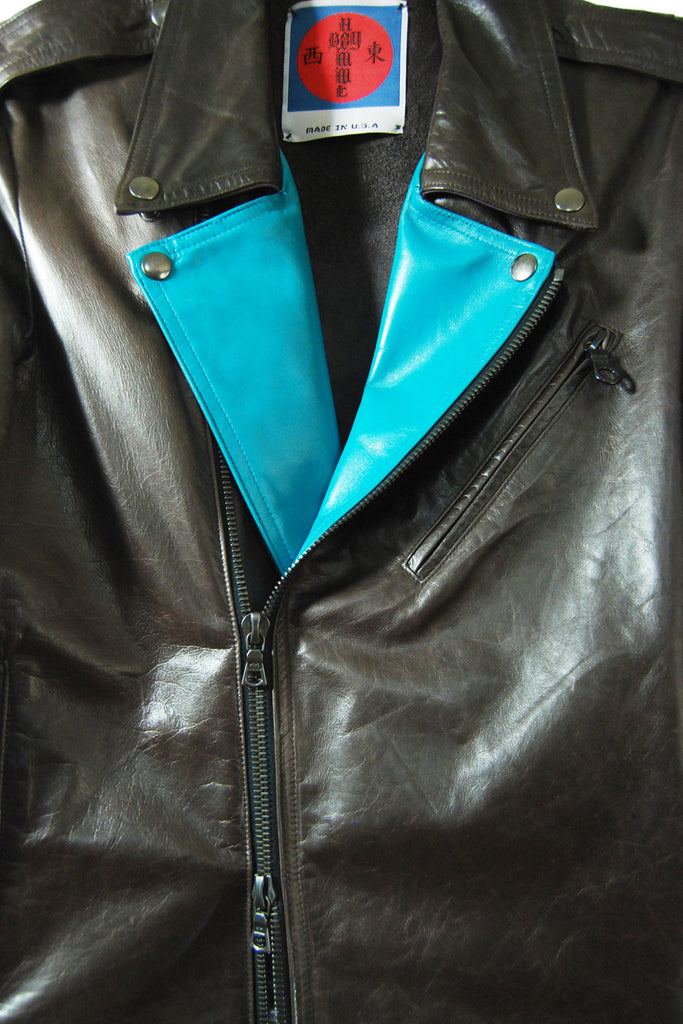 Mod. 3B - Eggplant Aqua Leather