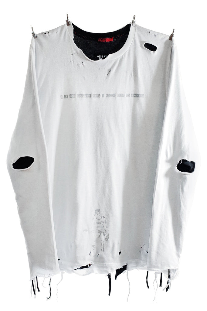 Tee. 10B - Reversible B&W Breathe LS
