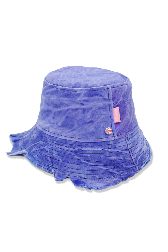 Acc. 17 Col. 3 - POCHE Leather Hat - Purple