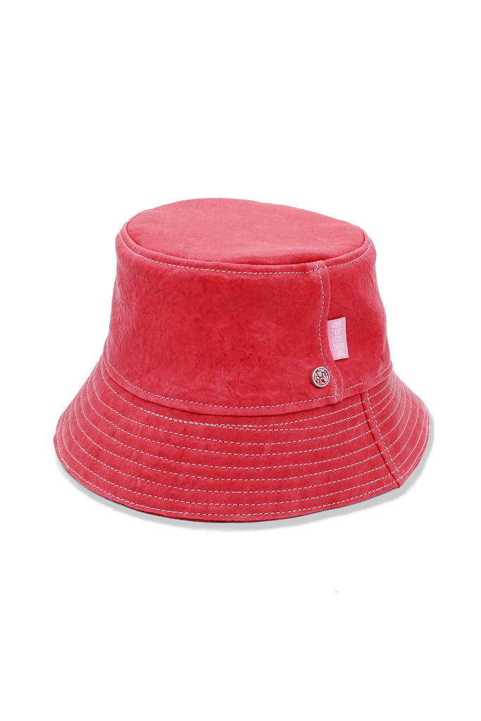 Acc. 17 Col. 2 - POCHE Leather Hat - Red