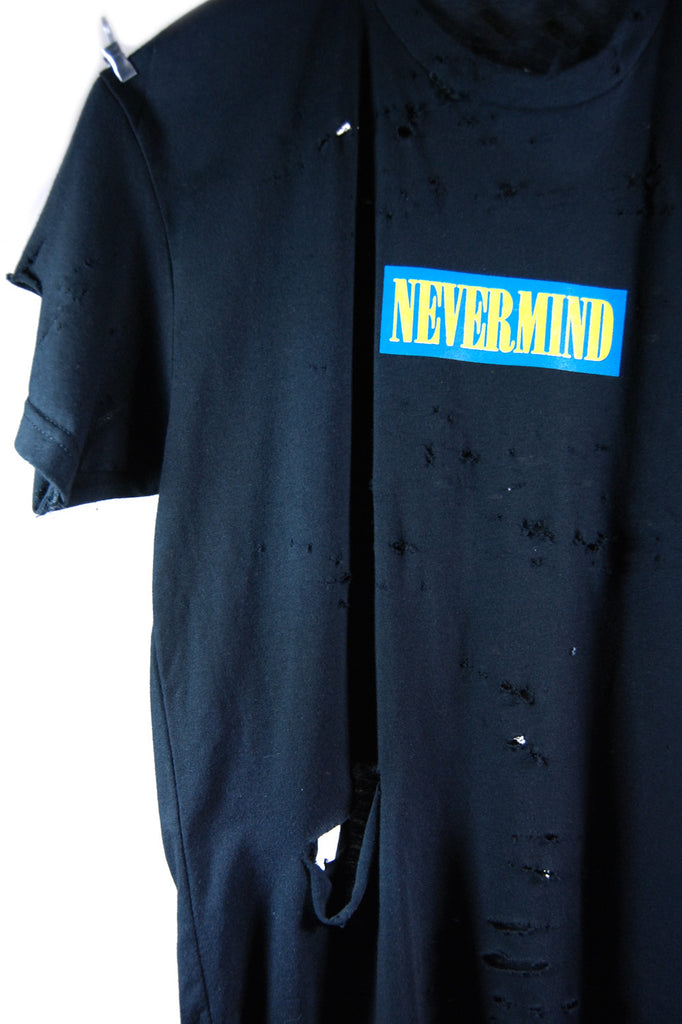 Tee. 2 - NEVERMIND Blue & Yellow