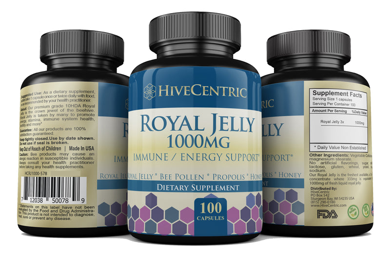 ROYAL JELLY 1000MG / 100 CAPS