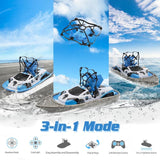 Terzetto 3 in 1 Mini Drone 3-Mode (Water Ground & Air) RC Quadcopter Gift for Kids - Baby & Kids