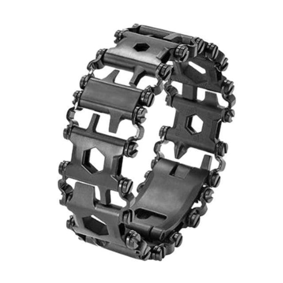 29-IN-1 Titanium Steel Multi-Functional Tools Bracelet - Black - Outdoor Life