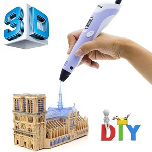3D PRINTING PEN - PURPLE / PLA/ABS 20M <4 COLORS> - Baby & Kids