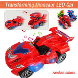 3D Transforming Dinosaur Toy LED Car With Light Sound for Kids - Baby & Kids