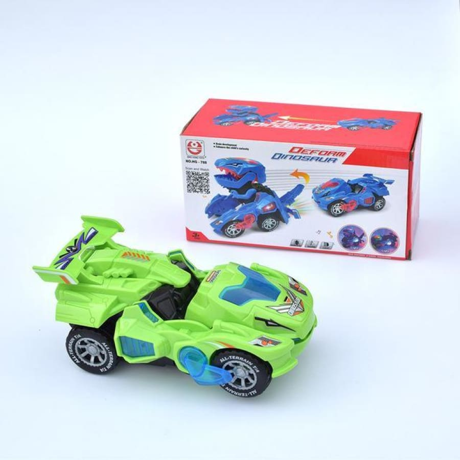 3d Transforming Dinosaur Toy Led Car With Light Sound For