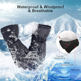 Battery/USB Heated Gloves Waterproof Touchscreen Gloves Electric Winter Gloves for Work Cycling Motorcycle Hiking - Outdoor Life