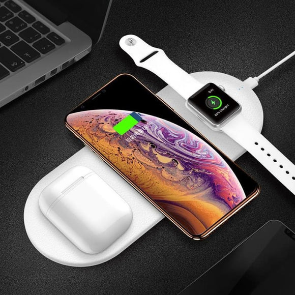 AirUnleashed - Wireless Charging Mat - White - Electronics