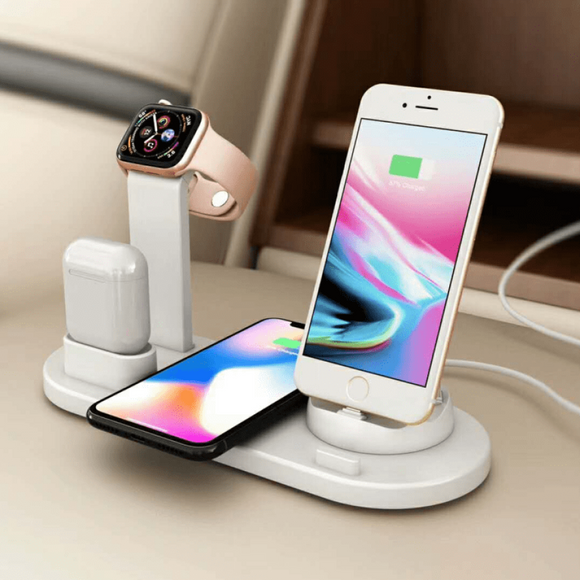 ChargeMaster 4 in 1 Charging Dock - White - Electronics