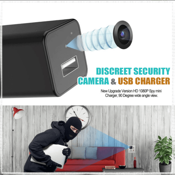Discreet Security Camera & USB Charger