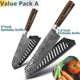 Gyuto Japanese Handmade Kitchen Knife - Value Pack A - Home & Kitchen Finds