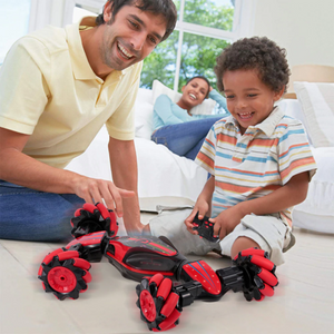 Gesture Control - DOUBLE-SIDED STUNT CAR - Blue - Baby & Kids
