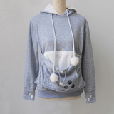 Kangaroo Hoodie - Gray / S - Pet Finds